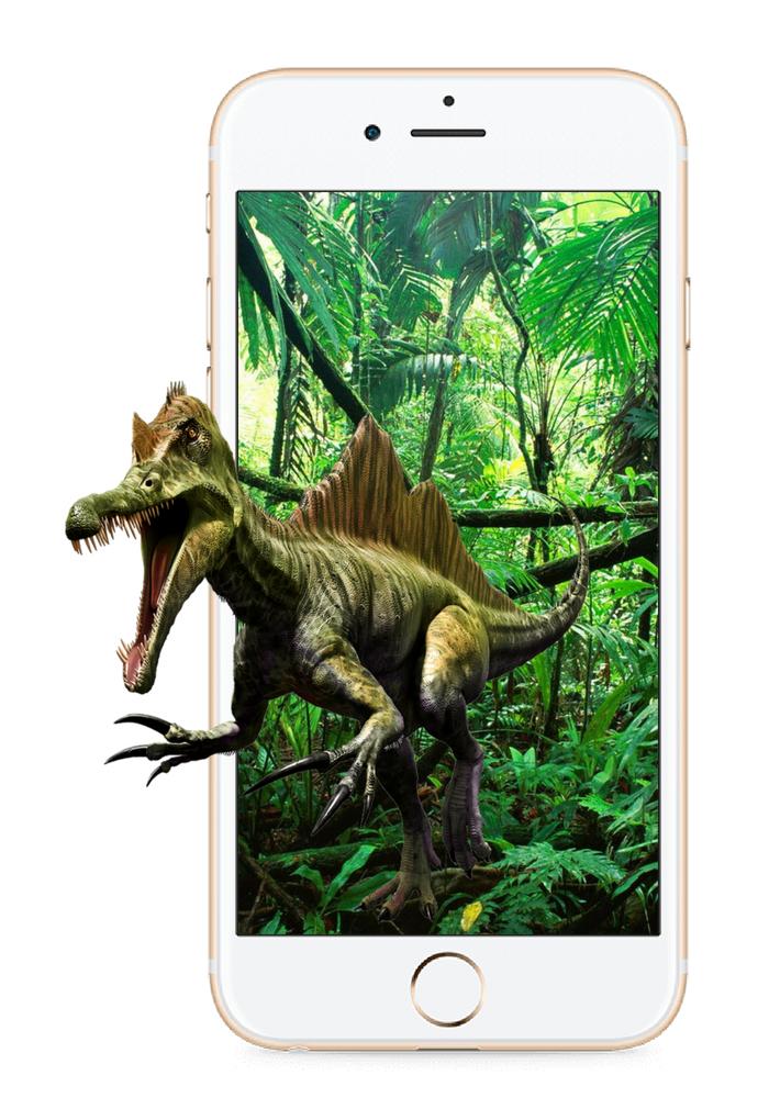 augmented reality dinosaur